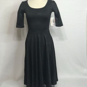 Lularoe Black NWT XXS Nicole dress